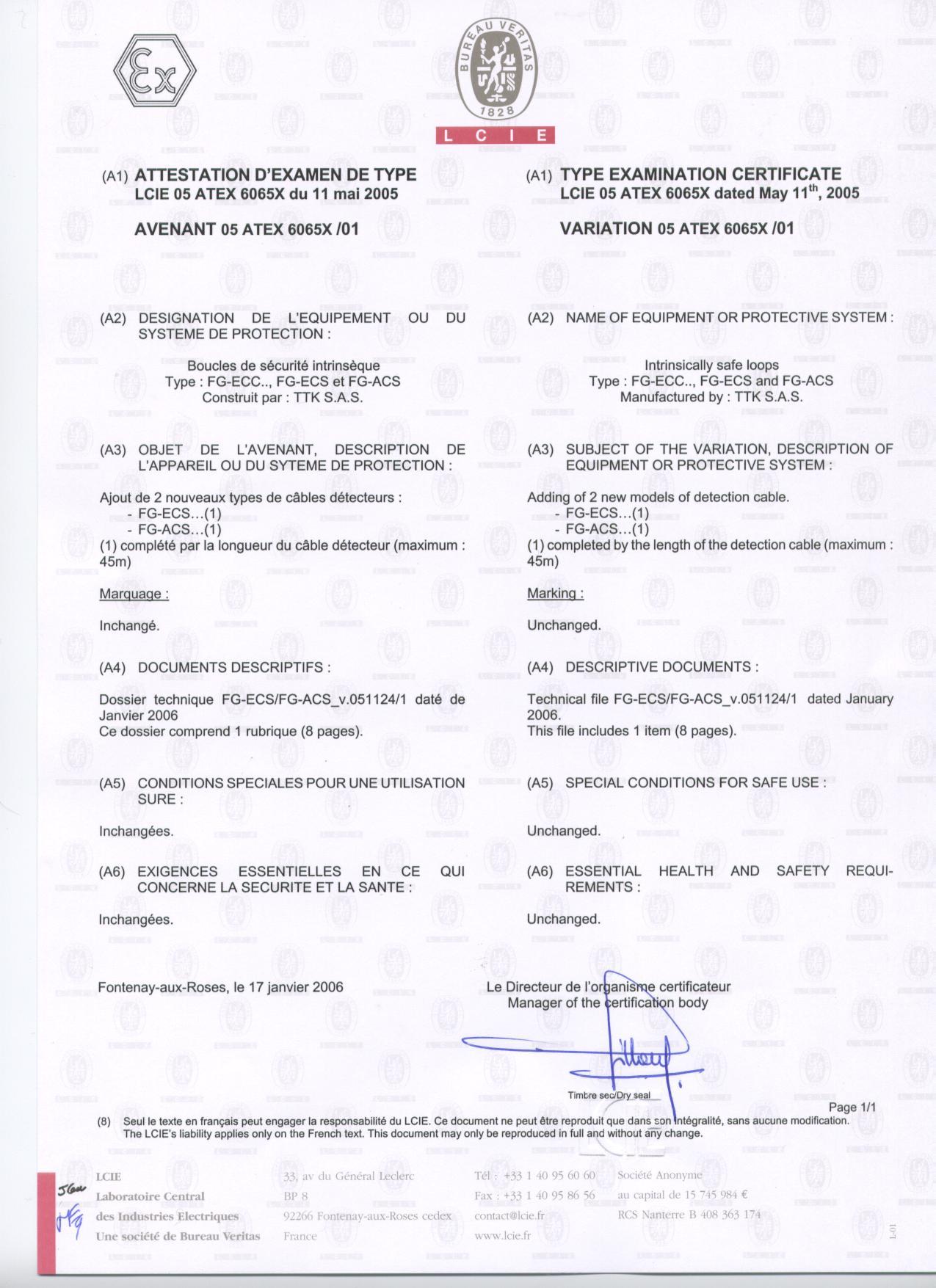 Certifications Ttk Leak Detection