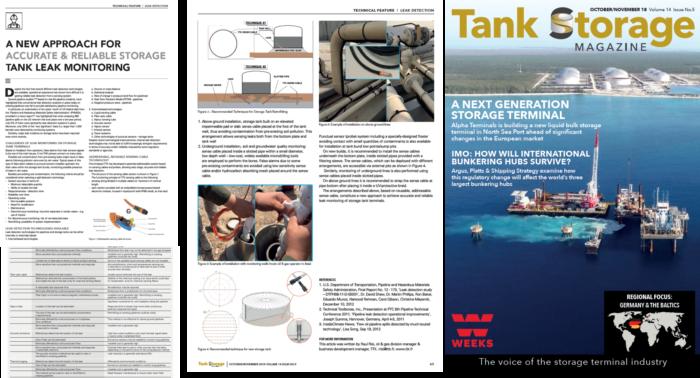 "TTK advanced leak detection technology featured in ""Tank Storage Magazine"""